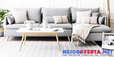 EHC Funda Tejida a Mano para sof/á Color Gris//Natural una Unidad Reversible 125 x 150 cm